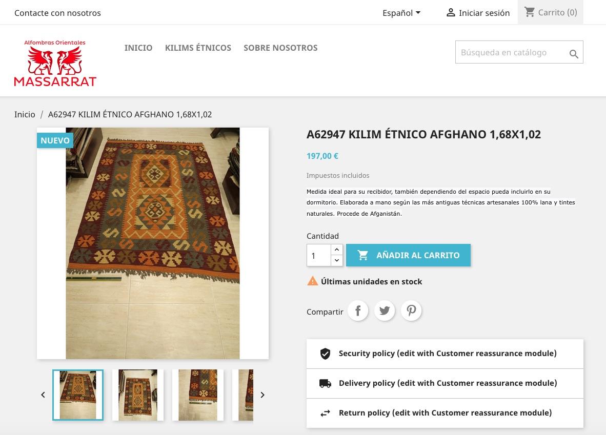 Tienda Online Alfombras Massarrat